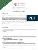 Investigation Form