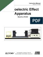 Photoelectric Effect Apparatus AP8209 PASCO