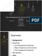 Damien Rompapas - View Management for Virtual and Augmented Reality