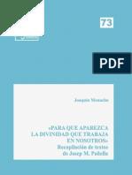 Eides 73, Para Que Aparezca La Divinidad que trabaja en nosotros - Joaquín Menacho