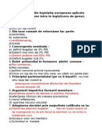 EXEMPLE de Grile Economie Europeana