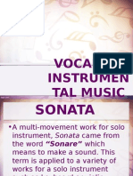 Vocal and Instrumental Music..