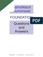 mathswatch foundation answers