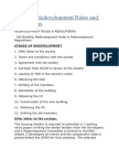 Stages of Redevelopment Rules and Regulations