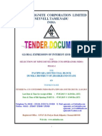 Tender Document NLC