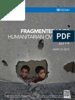 UN Annual Humanitarian Overview Palestine 2014