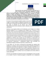 Resolucion 24-2-15 Inmersiones Inglés Alumnado Extremeño Verano 2015