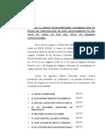 Acta Constitución Ayuntamiento de Leganés 2011-2015. ULEG se votó a sí mismo