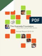 Gyanada Foundation - Annual Report 2013/2014
