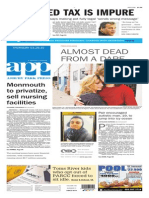 Asbury Park Press front page Thursday, March 26 2015