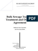 Bulk Sewerage Agreement City West Water