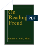 """On Reading Freud"" By Robert R. Holt (1973)"