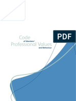 Code of Professional Values Behaviour
