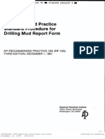 RP 13G Rev3 Drilling Mud Report Form