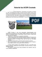 História da ACDR Coutada