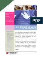 Día Escolar de La Paz y La No-Violencia. Aula No-Violenta