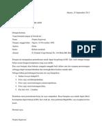 surat pernyataan CV