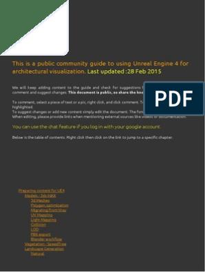 Tutorial Unreal Engine 4 para Arquitetura | Texture Mapping