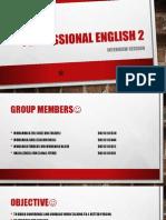 Professional English 2 SLIDE