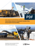 NIOSH Best Practice Guidelines to Control Worker Exposure During Asphalt Pavement Milling