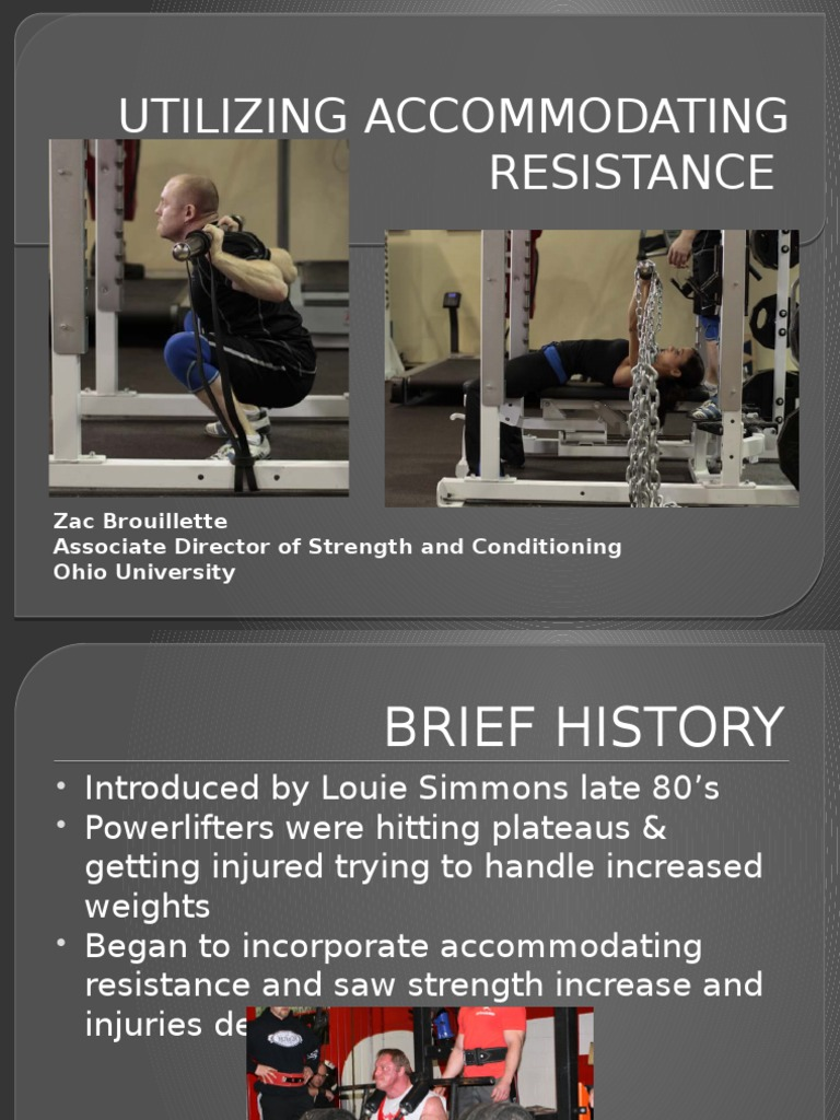 Accommodating resistance training