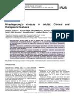 Hirschsprung's disease in adults