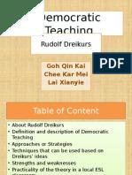 Democratic Teaching Rudolf Dreikers