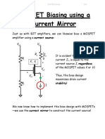 MOSFET Biasing Using a Current Mirror