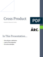 Cross Product Workshop