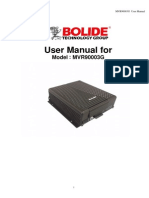 Manual  DVR BOLIDE MVR9008-3G User