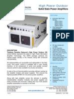Paradise Datacom NEMA Outdoor Power Amplifier 202589 RevZ