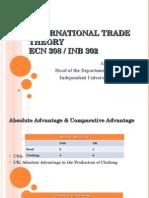 ECN 308 - Trade Theory(1)