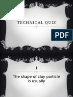 Technical Quiz