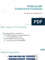 KVM/arm64 Architectural Evolutions