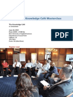 Knowledge Cafe Masterclass Bern Brochure