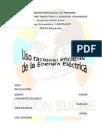 Uso Racional y Eficiente de La Energia