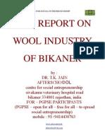Wool Industry of Bikaner