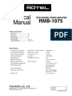 Rotel RMB-1075 Service_manual