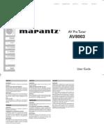 Marantz AV8003 Manual En