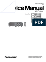 Panasonic PT-AE8000.PT 6000 Service Manual