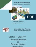 01.- Capítulo I - Conceptos Generales de Recursos Hídricos - Clase N° 1.pdf
