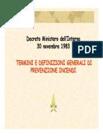 prevenzione incendi-termini e Definizioni Generali Di