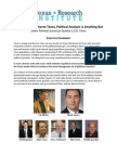 REPORT - In Increasingly Diverse Texas, Political Analysis is Anything But