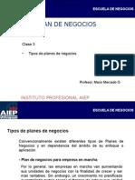 2012-2 Clase 3 Tipos de Planes de Negocios (1)