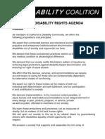 CA Disability Rights Agenda