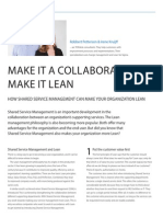 Make it a collaboration, make it lean