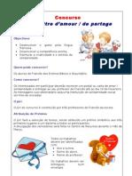 Concurso Une Lettre d'amour / de Partage