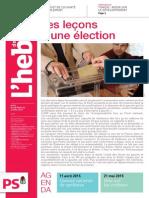 L'Hebdo n°771 «Les leçons d'une élection»
