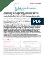 Pulmonary Hipertension Guidelines European ESC-ERS 2009