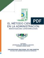 El Método Científico en La Administración